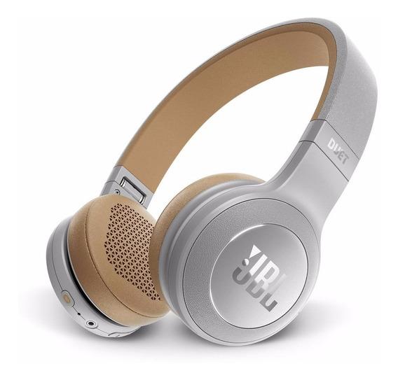 Fone De Ouvido Sem Fio Original Jbl Duet Bluetooth Prata