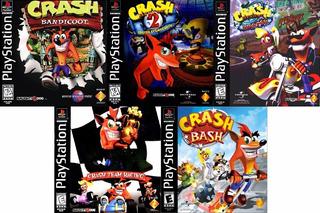 Crash Bandicoot Collection 5 Jogos + Memory Card Brinde