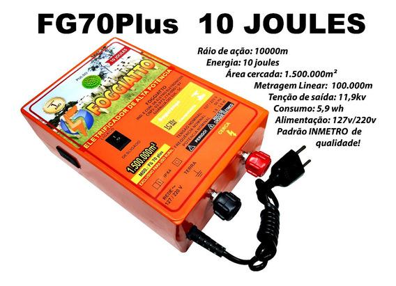 Eletrificador Cerca 150 Ha Fg70p 2unidade110/220v 10 Joules