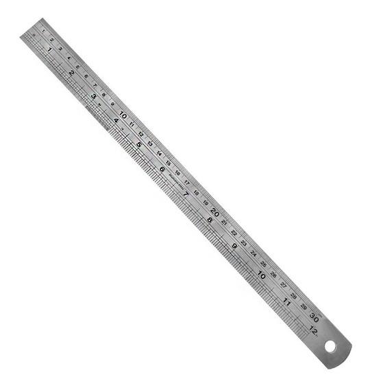 Regua De Metal 30cm Para Scrapbook Artesanato Desenho