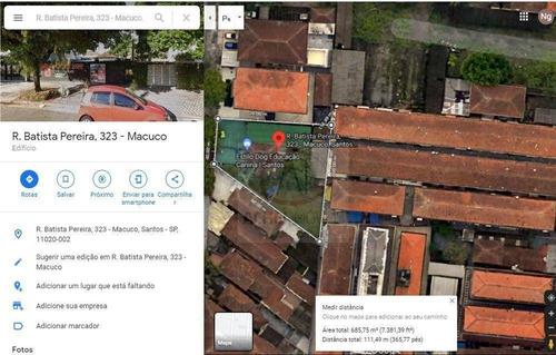 Imagem 1 de 1 de Terreno À Venda, 666 M² Por R$ 1.650.000 - Macuco - Santos/sp - Te0258