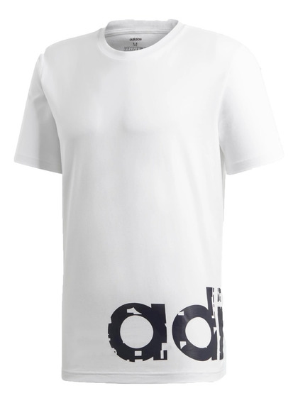 adidas Remera Lifestyle Hombre Logo Digital Camo Blanco