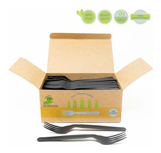 Bielas Desechables Pesadas Biodegradable Compostable - 100