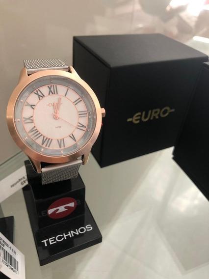 Relógio Feminino Euro Ouse Ser Você Mesma Eu2039jj/5k 43mm A