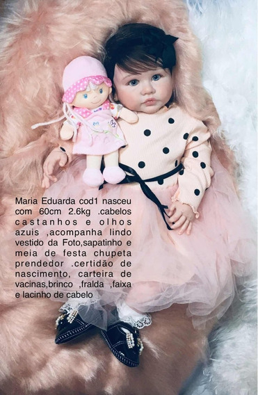 Bebe Reborn Maria Eduarda (corpo Tecido)