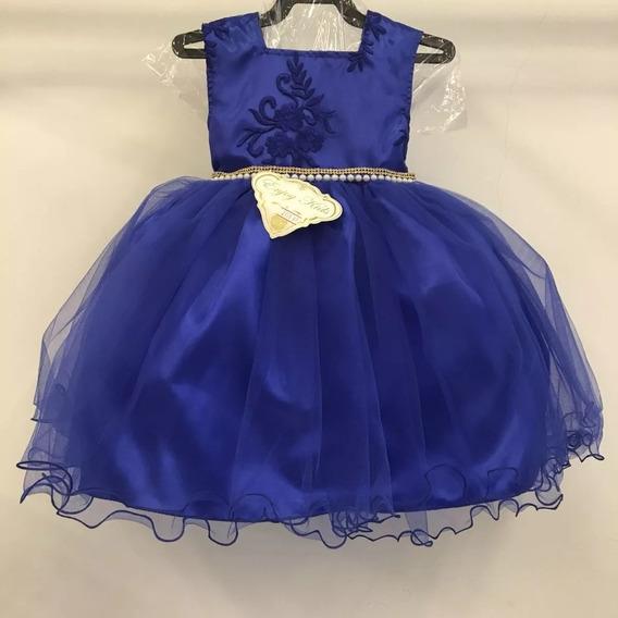 Vestido Infantil Vermelhou E Azul Tamanho Do 1 Ao 3