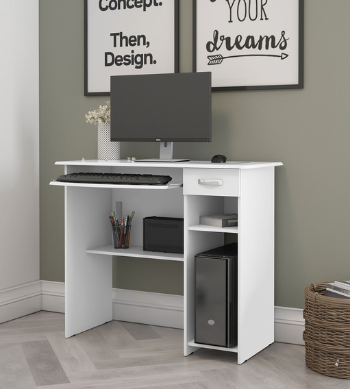Mesa Para Computador 1 Gaveta Viena, Branco