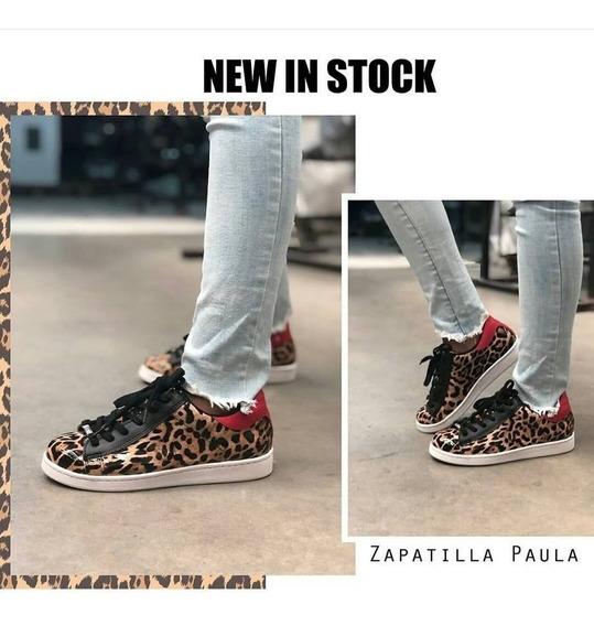 Zapatilla Animal Print Luna Chiara-paula- Cuestión De Piel