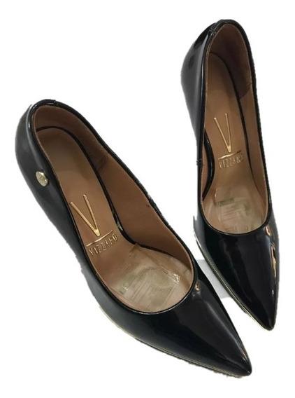 Zapato Vizzano Stilettos Negro Charol N35 Modelo 12671 Nuevo