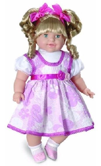 Boneca Bebê Infantil Thaily Fala 50 Frases Brinquedo 50 Cm