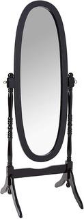 Espejo De Piso Ovalado Color Negro + ¡envio Gratis!