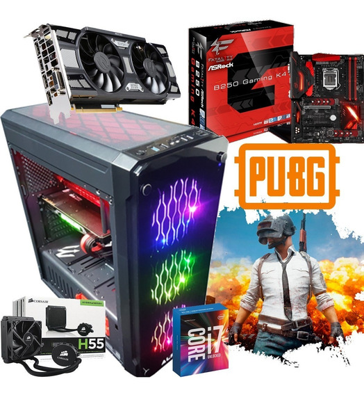 Pc Cpu Gamer B250/ Core I7 8700/ 8gb/ 1tb/ Wifi/gtx 1070/