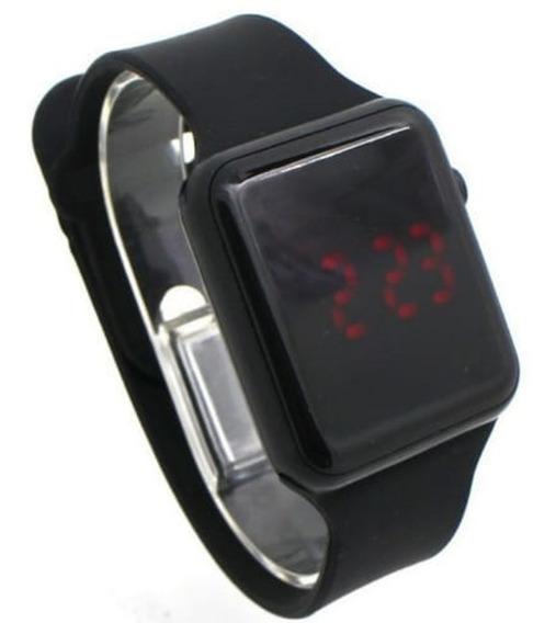 Relógio Digital, Borda Cromada Red Led Vermelho, Gr Estilo.