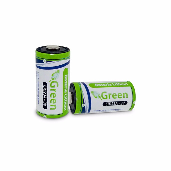 Bateria Pilha Lithiun Green Photo Cr123a 3v