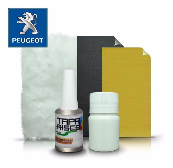 Tinta Tapa Tira Risco + Kit Polimento Peugeot - Cinza Cendre