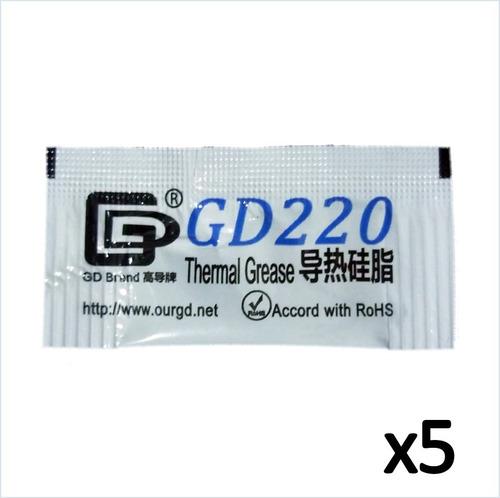 Sobres Pasta Grasa Térmica Disipador Calor Gd220 0,5grs