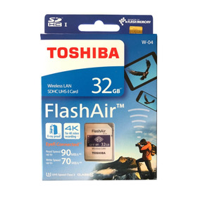 Cartão Memória Toshiba Flashair Wi-fi 32gb Class 10 4k U3