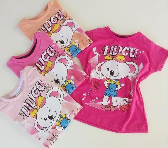 Kit Com 15 (quinze) Camisa Feminina Infantil