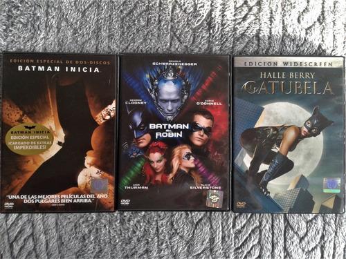 Batman - Combo Dvds . 3 Peliculas - Originales - Nuevas
