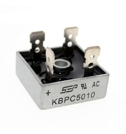 Kbpc5010 Ponte Retificadora 50a 1000v 4 Unid. Diodo