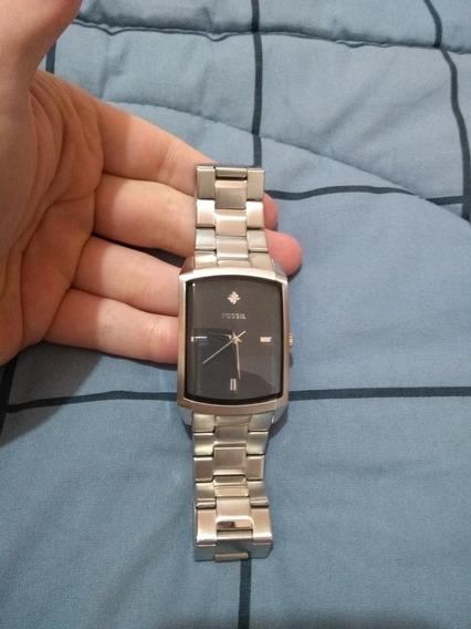 Relógio Fóssil Cromado Original