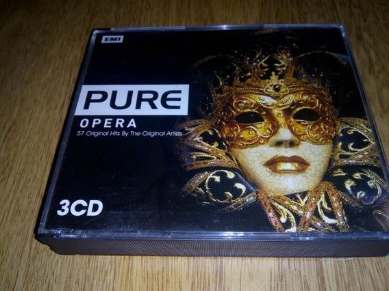 Pure Opera 3 Cds Promo Difusión Rossini Dvorak Verdi Puccini