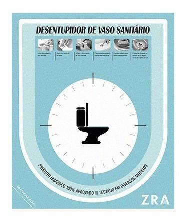 Adesivo Para Desentupir Vaso Sanitário - 04 Unidades Cr