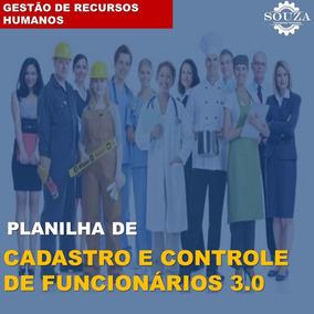 Planilha De Cadastro E Controle De Funcionários 3.0