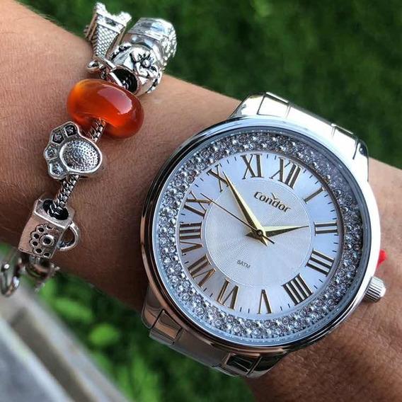 Relógio Feminino Prateado Analogico Condor Co2036kvg/3k Nf