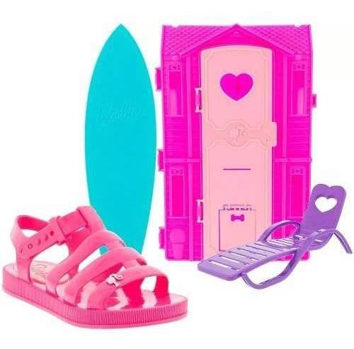 Sandália Barbie Dreamhouse Grendene Acompanha Brinquedo