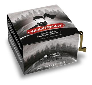 Woodsman Gel Pigmento Negro Temporal Para Zona De Barba