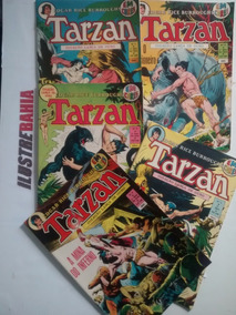 Kit Tarzan 05 Hqs 2ª Série Em Cores Nº 1 A Nº5 Lança De Ouro