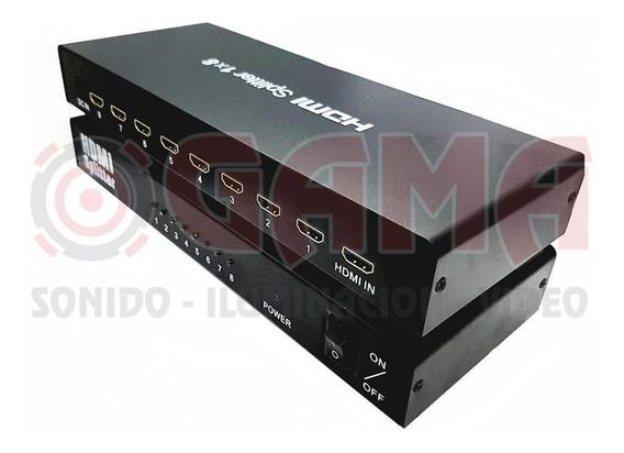 Splitter Repartidor 1 Jack Hdmi A 8 Jack Hdmi 1080p,1080i,48