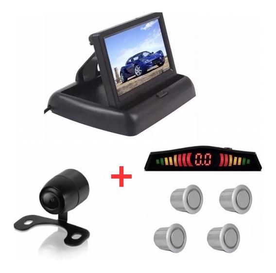 Kit Monitor Retrátil + Sensor Prata + Câmera Santa Fé