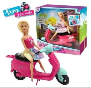 Muñeca Kiara Y Su Moto Nenas Juguetes Accesorios Bebes