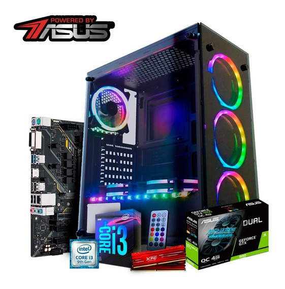 Pc Itx Gamer Powered By Asus Core I3 9100f / Asus Tuf H310m-plus / Gtx 1650 4gb / Mem 8gb 2666hz