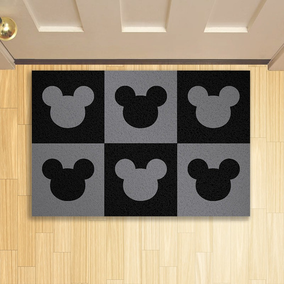 Tapete Capacho Criativo Geek Mickeys