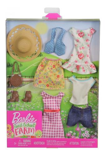 Imagem 1 de 8 de Barbie Cartela 4 Visuais Sweet Orchard Roupas Fashion Pack