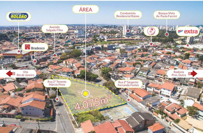 Área, Jardim Santa Mena, Guarulhos - R$ 9.4 Mi, Cod: 1139 - V1139