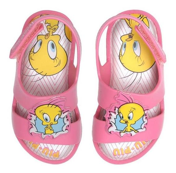 Sandália Baby Warner Looney Tunes Piu Piu Feminina