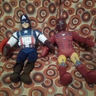 Peluche Iron Man Y Capitán América