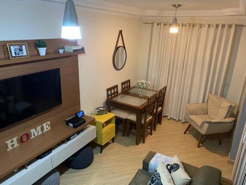 Imagem 1 de 17 de Apartamento De 60m² Com 3 Quartos E 1 Vaga De Garagem À Venda No Condomínio Belas Artes - 1176_hen