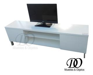 Mueble Tv/lcd Rack El Mejor Laqueado De 150x35 Con Puertas