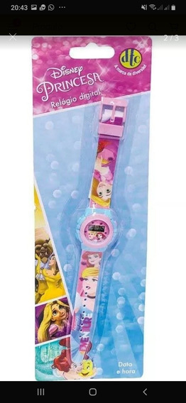 Relógio Digital Infantil Feminino Princesas Disney Original