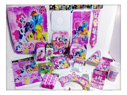 Kit Decoración Infantil Mujer My Little Pony 12 Invitados
