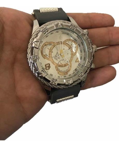 Relógio Masculino Cinza Elegance Quartz (envio Rápido)