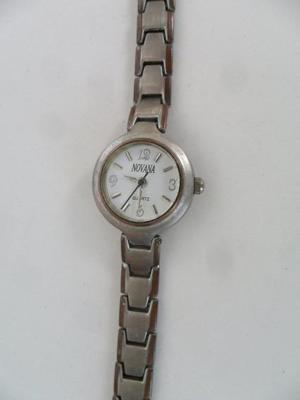 Relógio De Pulso Feminino Novana Quartz Prateado Antigo