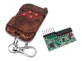 Controle Remoto Rf 315mhz 4 Canais + Receptor Arduino