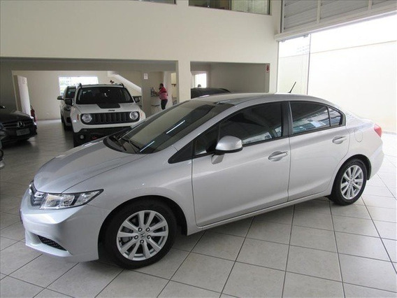 Honda Civic 1.8 Lxs 16v Flex 4p Manual 2012 Prata