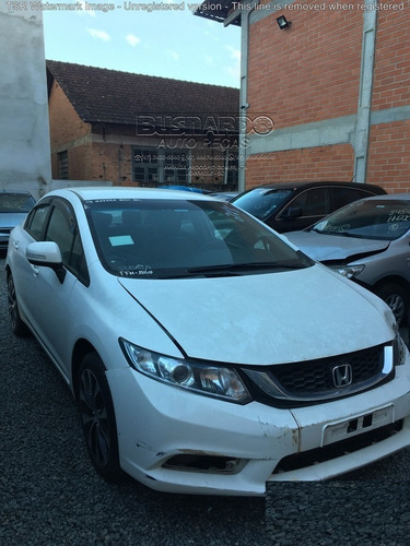 Sucata Peças Honda New Civic Lxr 2.0 Flex 2015